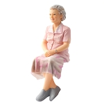 Rose - Sitting Grandmother resin doll 1:12 scale dollhouse miniature