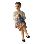 June - Sitting Grandmother  resin doll 1:12 scale dollhouse miniature