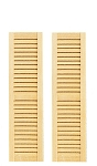 Louvered Shutters 2 Per Pkg. for 1:12 Dollhouse miniature