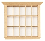 Window 15 - Light 5  Square x 1/2 D for 1:12 Dollhouse miniature