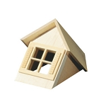 Dormer Window With 4-Light Window (Half scale 1:24) for Dollhouse miniature