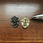 LION HEAD KNOCKER GOLD for 1:12 dollhouse miniature