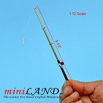 Fishing rod with hook dollhouse miniature 1:12 scale