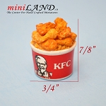 KFC dollhouse miniature 1:12 scale handmade Chicken wings KFCK2
