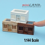 1:144 scale LANDYGO STORE ROOMBOX DOLLHOUSE FOR DOLLHOUSE walnut