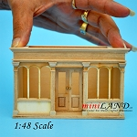 BLACK FRIDAY SALE  -1:48 scale LANDYGO STORE ROOMBOX DOLLHOUSE QUICK ASSEMBLY KIT, UNFINISHED