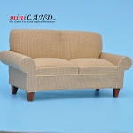 Brown modern Sofa for 1:12 dollhouse miniature