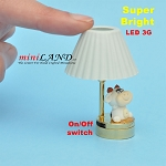 Child table LED LAMP light battery Handmade 1:12 Kid baby cow
