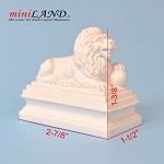 White Manor Lion Sentinel Statue with ball   for 1:12 dollhouse miniature