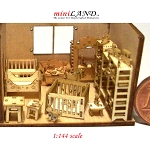 Quality wooden playroom child baby room set kit 1:144 scale