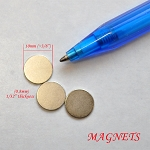 3 Additional disk magnets for miniLAND LED lights  3/8