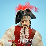 PIRATE - Pirate with eyepatch and pirate hat 1:12 scale