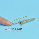 Miniature trombone instrument  for Dollhouse 2-1/4