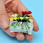 Mixed Flowers In Window Box for dollhouse miniature 1:12 scale