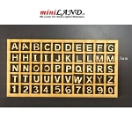 Wood Carved Miniature Wood Letters and Numbers - 5mm (3/16