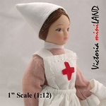 Female Nurse Porcelain doll  5.5