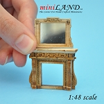1:48 Scale Fireplace and mirror unfinished for dollhouse miniature