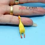 Yellow Rubber Chicken Pet Dog Toy for dollhouse miniature 1:12 scale