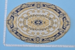 Clearance SALE - Large - detailed elliptical Victorian Carpet/Rug/ Mat for dollhouse miniature - 1:12 scale