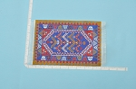 Clearance SALE - Medium Native Carpet/Rug for dollhouse miniature - 1:12 scale
