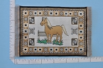 Clearance SALE - Small Horse Carpet/Rug for dollhouse miniature - 1:12 scale