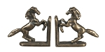 Metal Horse bookends  2pcs set antique for 1:12 scale dollhouse miniature
