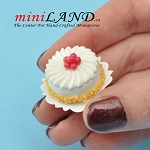 White Cream Cake for 1:12 dollhouse miniature food