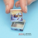 Mini sugar cookies can dollhouse miniature 1:12 scale Christmas Square box