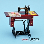 Treadle Sewing Machine MH dollhouse miniature 1:12