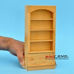 Pine Bookshelf   Wooden bookcase dollhouse miniature 1:12