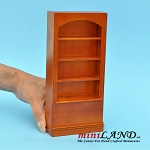 WN Bookshelf   Wooden bookcase dollhouse miniature 1:12
