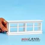 Wooden White Store Counter dollhouse miniature 1:12