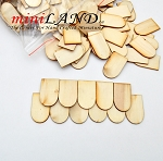 500pcs quality Shingles Fishscale  laser cut 1/12 scale dollhouse roofing wood 1.25