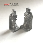 Shakespeare  torso bookend  unfinished DIY metal miniature for dollhouse - Do it yourself  -2pcs