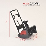 Black and red snow blower tool  for 1:12 dollhouse miniature