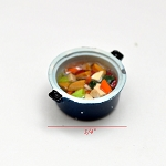Pot with soup food for Dollhouse miniature 1:12 scale A