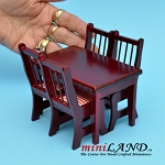 BLACK FRIDAY SALE  -5 pcs Kitchen table with chairs MH dollhouse miniature 1:12