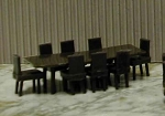 DINING Table and chairs 1:48 9PC