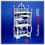 Wire Shelving Unit TMIL001-2 for 1:12 dollhouse miniature