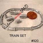 TRAIN SET With TRACK DIY metal miniature for dollhouse - Do it yourself