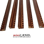 Walnut Dental Crown Molding dollhouse miniature trim 1pc, 50cm x 10x7mm Hardwood Oak 1:12 scale
