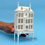 Victorian Dollhouse for dollhouse with table white with gold 1:144 scale -Top Quality