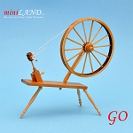 Miniature 18th Century Large Walking Wool Spinning Wheel,  dollhouse  1:12  scale GO