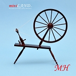 Miniature 18th Century Large Walking Wool Spinning Wheel,  dollhouse  1:12  scale MH