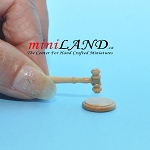 Auction judge hammer with base dollhouse miniature 1:12 scale GO