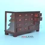 STORE HABERDASHER COUNTER 16 DRAWER UNIT ART DECO Dollhouse miniature 1:12 scale MH