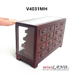 STORE HABERDASHER COUNTER 16 DRAWER UNIT ART DECO Dollhouse miniature 1:12 scale MH  metal