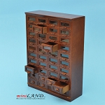STORE HABERDASHER 40 DRAWER UNIT ART DECO Dollhouse miniature 1:12 scale Walnut