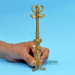 Victorian coats and  hats rack stand dollhouse miniature 1:12 scale Gold