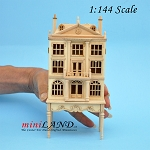 Colonial  DOLLHOUSE FOR DOLLHOUSE WITH TABLE UNFINISHED 1:144 scale -Top Quality